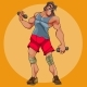 Cartoon Male Athlete Doing Exercises - GraphicRiver Item for Sale