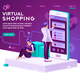 Virtual Shopping Concept Vector - GraphicRiver Item for Sale