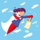 Modern Super Hero Mother Flying - GraphicRiver Item for Sale