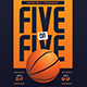 5 On 5 Basketball Tournament Flyer - GraphicRiver Item for Sale