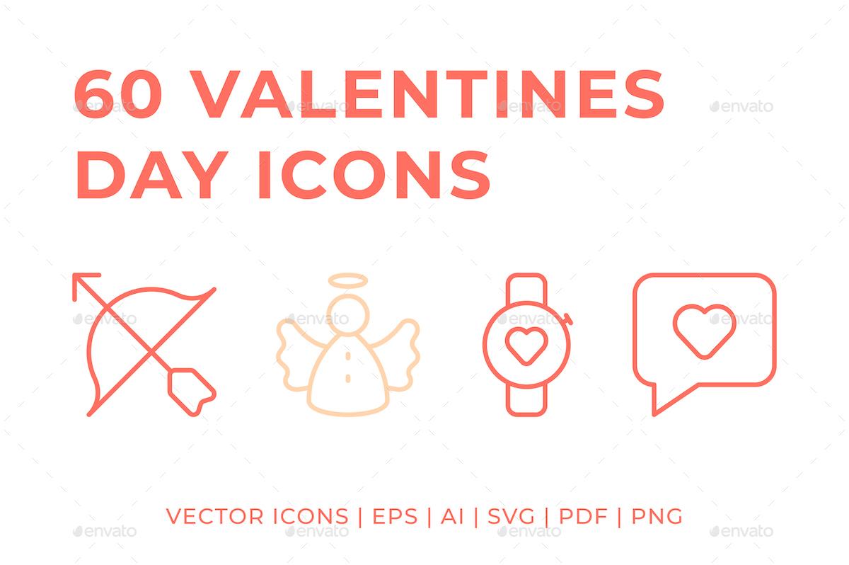 60 Valentines Day Icons