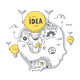 Idea and Thinking Process Doodle Concept - GraphicRiver Item for Sale