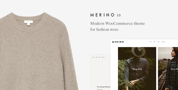 Merino | Modern WooCommerce shop theme for fashion store Free Download