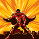 Superhero Watching Over City - GraphicRiver Item for Sale