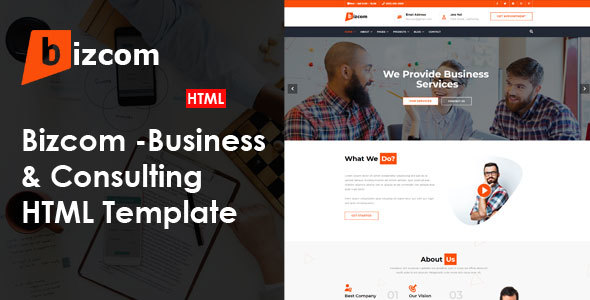|Bizcom - Consulting & Business HTML Template