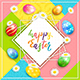 Holiday Easter Card on Colorful Background - GraphicRiver Item for Sale