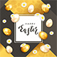 Easter Eggs with Holiday Card - GraphicRiver Item for Sale