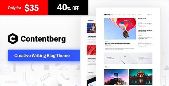 Contentberg - Blog & Content Marketing Theme - Personal Blog / Magazine