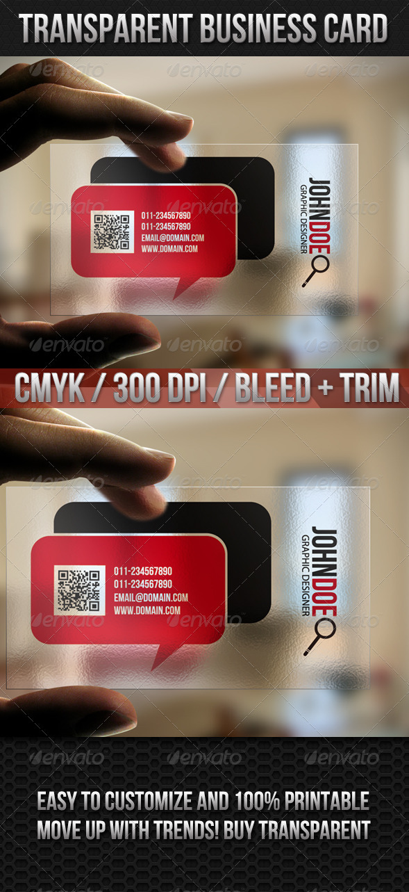 Transparent Quick Responsive Business Card - Creative Business Cards