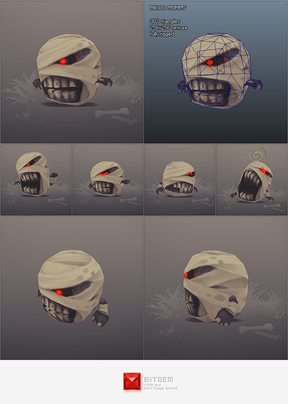 Low Poly Micro Mummy Taal - 3DOcean Item for Sale