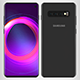 Samsung Galaxy S10 Black - 3DOcean Item for Sale