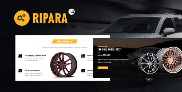 Ripara – Auto Repair & Car WooCommerce WordPress Theme Free Download