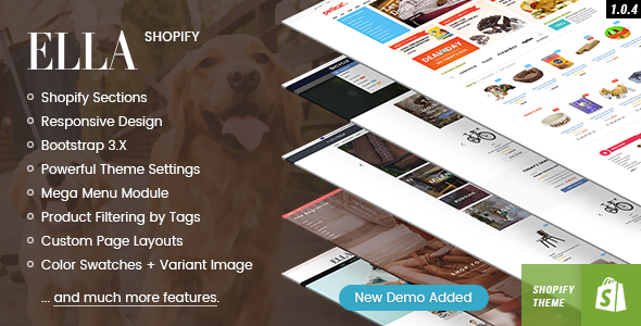 Ella - Responsive Shopify Template (Sections Ready) - Fashion Shopify