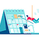 Flat Calendar with Task Managment and Man Painting - GraphicRiver Item for Sale