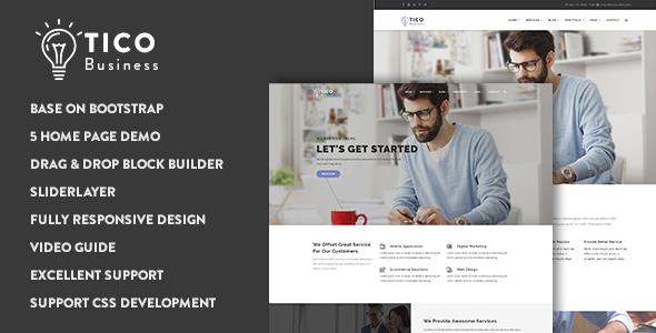Tico - Responsive Business Drupal 8.6 Theme