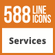 588 Services Line Green & Black Icons - GraphicRiver Item for Sale