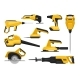 Flat Vector Set of Power Tools for Construction - GraphicRiver Item for Sale