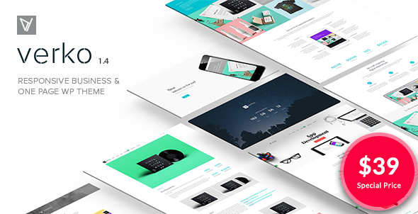 Download Verko   Responsive Business & One Page WP Theme nulled 001