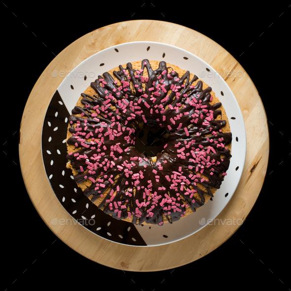 Chiffon cake - Stock Photo - Images