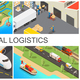 Isometric Global Transportation Composition - GraphicRiver Item for Sale