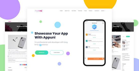 Appuni – App Landing WordPress Theme + RTL Free Download