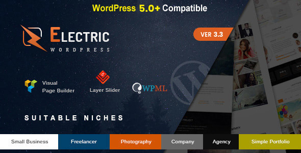 Electric - The WordPress Theme - Business Corporate