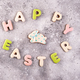 Happy Easter colorful lettering Happy Easter of ginger biscuits and cookies bunny - PhotoDune Item for Sale