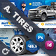 Auto Tires Cover Bundle Templates - GraphicRiver Item for Sale
