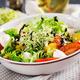 Vegetarian salad with cherry tomato, mozzarella and lettuce. Italian cuisine. - PhotoDune Item for Sale