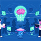Business People Team Thinking and Brainstorming - GraphicRiver Item for Sale