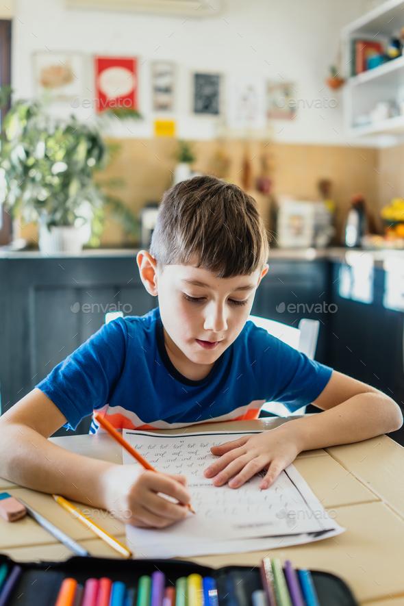 Doing homework - Stock Photo - Images