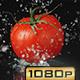 Water Splashing Tomato - VideoHive Item for Sale