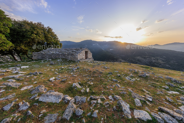 Kastro village, Greece - Stock Photo - Images