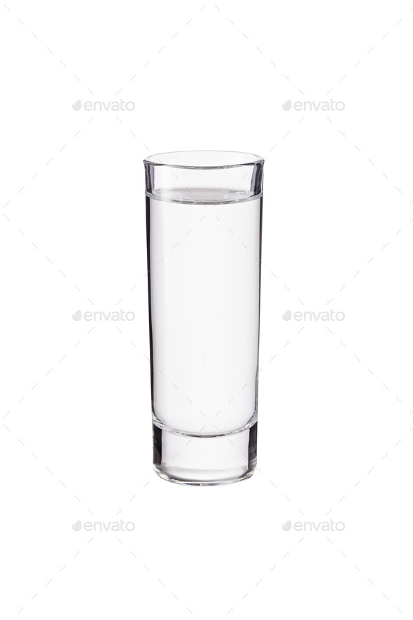 Refreshing Vodka Shot Glass on White - Stock Photo - Images