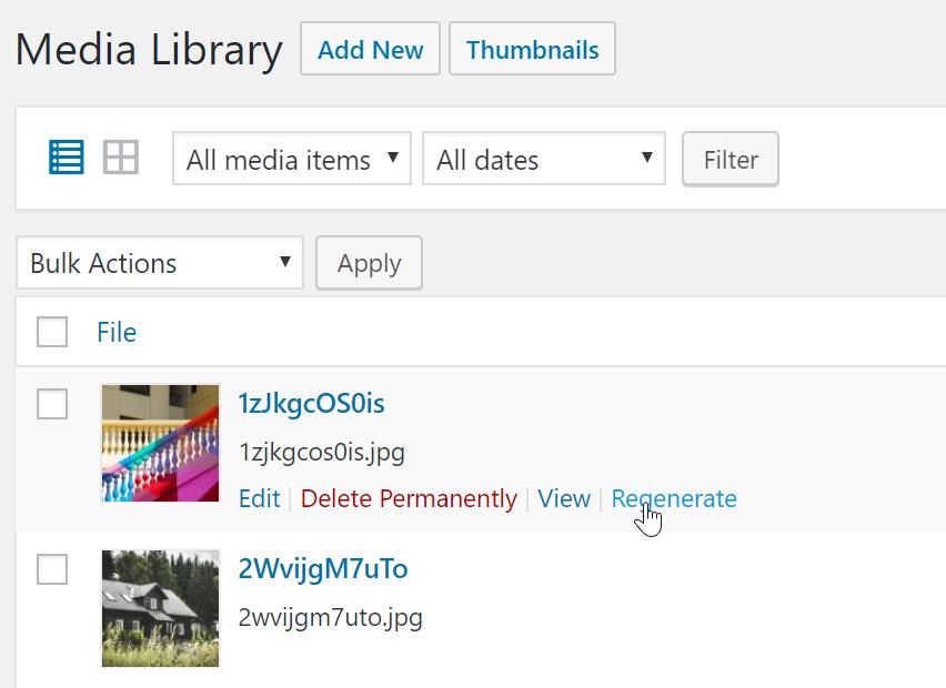 WordPress Real Thumbnail Generator - Bulk Regenerate Thumbnails / Upload folder