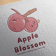 Apple Blossom Logo Design - GraphicRiver Item for Sale