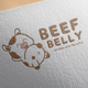 Beef Belly Logo Design - GraphicRiver Item for Sale