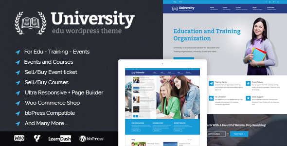 University - Education, Event and Course Theme - Education WordPress