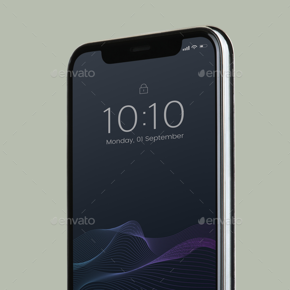 Black screen smartphone mockup design - Stock Photo - Images