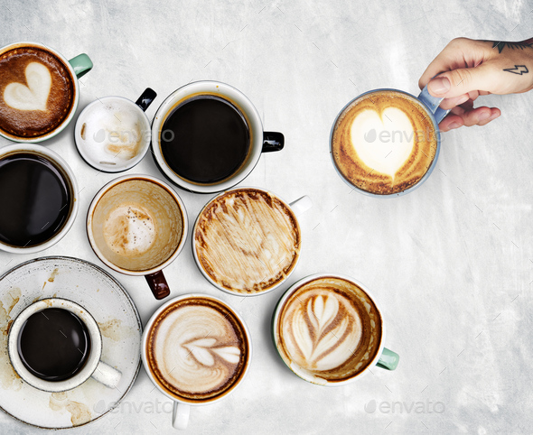 Coffee cups collection - Stock Photo - Images