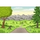 Cartoon Summer Landscape - GraphicRiver Item for Sale