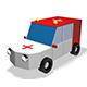 Low Poly Ambulance V2 3d Model - 3DOcean Item for Sale