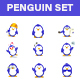 Penguin Stickers Set - GraphicRiver Item for Sale