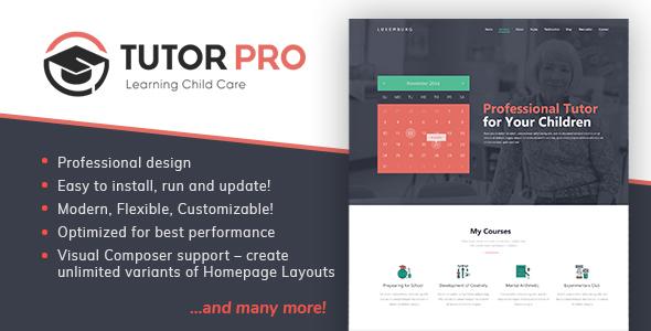 Tutor Pro |  Education WordPress  for Education - Education WordPress
