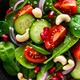 Spinach salad with vegetables and nuts - PhotoDune Item for Sale