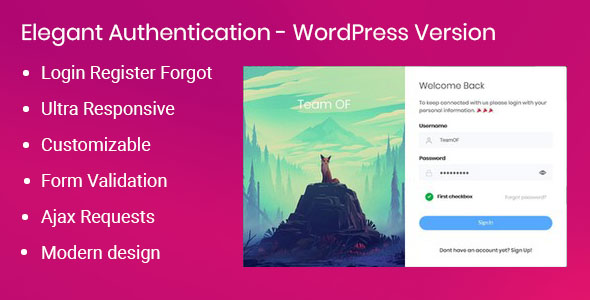 Elegant Authentication for WordPress - CodeCanyon Item for Sale