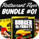 Restaurant Flyer Bundle 01 - GraphicRiver Item for Sale