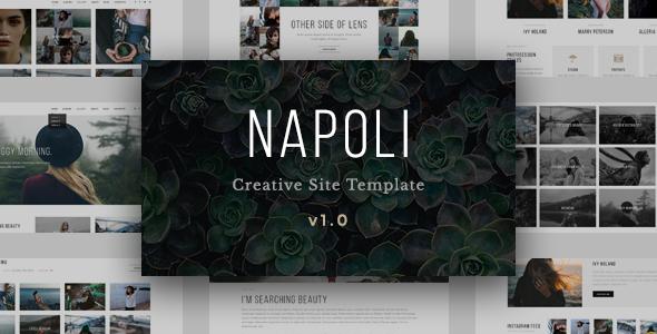 Napoli - Modern Photography Portfolio Responsive HTML Template - Photography Creative