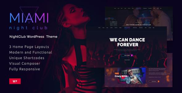 Miami | Disco Night Club WordPress - Nightlife Entertainment