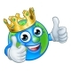 King Earth Globe World Mascot Cartoon Character - GraphicRiver Item for Sale